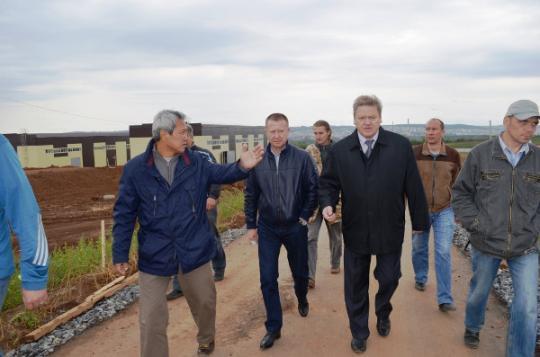 Андрей Чечеватов посетил Промышленный парк